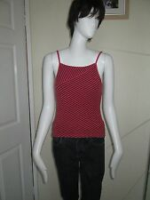 NIKE - PINK STRIPED  GYM / FITNESS, SUMMER VEST TOP Size 10 - POLYESTER