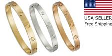 Men Women Real Stainless Steel Love Screwdriver Bangle Bracelet Gift Fever Fade