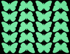 GLOW IN THE DARK Butterflies (A5 Sheet) Self Adhesive Stickers Peel and Stick