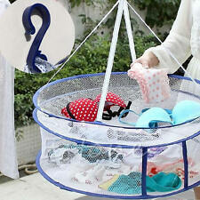 2 layers Drying Rack Folding Hanging Clothes Laundry Sweater Basket Dryer Net