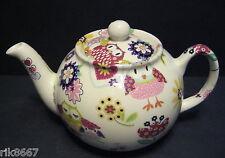 Heron Cross Pottery Owl Chintz English 3 Cup Tea Pot or 2 mugs