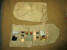 ORIGINAL WWII DAVIS US JUNGLE FIRST AID KIT ROLL (WITH CONTENTS) AND BAG