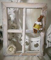Fenster Deko Fensterrahmen Sprossenfenster  Weiß Holz Shabby Vintage Landhaus 37
