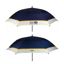 "Ltd Edition Scottish Open Callaway Tour Golf 60"" Double Canopy Auto Umbrella New"