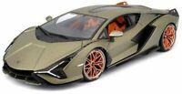 LAMBORGHINI SIAN FKP 37 GREEN METALLIC 1:18 DIECAST MODEL CAR BY Maisto