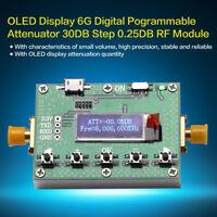 OLED Affichage 6G Atténuateur programmable numérique Module RF Étape 0.25DB SMA
