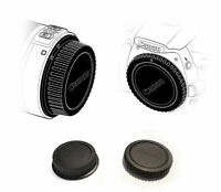 Canon Rear Lens Cover + Camera Body Cap for Canon DSLR SLR Lens