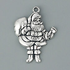 10pcs Father Christmas Santa Claus Charms Pendant Jewelry Findings