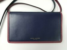 Marc Jacobs Madison Wallet Leather Strap Crossbody in Midnight Blue