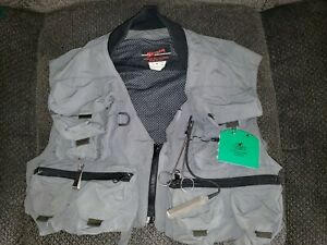 Simms Fly Fishing Vest Size Medium with Extras Orvis Lures plus More