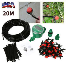 DIY Micro Drip Irrigation Auto Timer Self Plant Watering 20M Garden Hose System