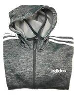 Adidas Mens Climawarm Tech Stripe Full Zip Fleece Hoodie Jacket