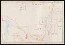 1904 PITTSFIELD, BERKSHIRE COUNTY, MA, ST. JOSEPH'S CEMETERY COPY PLAT ATLAS MAP