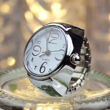 Dial Quartz Analog Watch Creative Steel Cool Elastic Quartz Finger Ring Watch WH