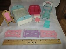Fisher Price Loving Family Dollhouse Lot Bed Chair Toilet Couch Parts pieces A