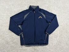 NFL San Diego Chargers Jacket Men XL Extra Large Blue Gray Bolt Track Football