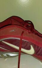 Nike Zoom Air Red HIGH TOP Football Athletic Shoes Metal Cleats Size 14 M