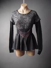 Sale Chain Belt Lolita Punk Industrial Goth Black Babydoll Top 112 ac Shirt OS