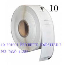 10 X Etichette Compatibili per DYMO 11352 54mmX25mm S0722520 LABELWRITER 400 450