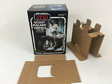 Nuevo Star Wars Rotj bi-logo insertos + Caja Scout Walker