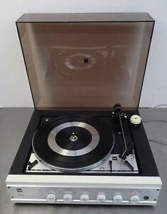 Dual CS 1215 HS41 Plattenspieler mit Verstärker weiß ~1970