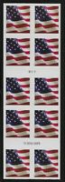 US Scott #5160a, Booklet Pane Plate #B1111 2017 Flag VF MNH