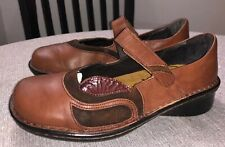 Naot Mary Jane Women's Sz 37/6 Shoes Leather/Suede Brown