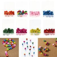 20pcs Wood Push Pins Flower Thumb Tacks Decorative for Cork Boards Decor.