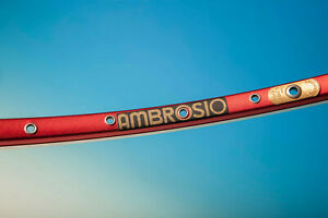 1x ambrosio excellence tqb  CERCHIO RIM CLINCHER 36H RED MATT 500 GR NEW NOS