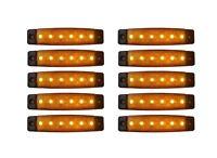 10 x LED 24V E9 BEGRENZUNGSLEUCHTE UMRISSLEUCHTE LKW POSITIONSLEUCHTE ORANGE