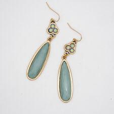 premier designs women jewelry vintage gold plated teardrop hoop dangle earrings