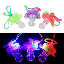 Led Pacifier Whistle Promotion Shiny Nipple Party Festive Decoration r4o