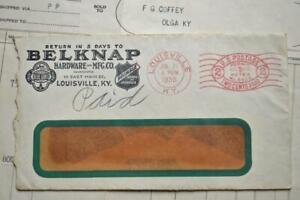 Vtg 1935 Belknap Hardware Invoice Letter Blue Grass Primble Knives Louisville KY