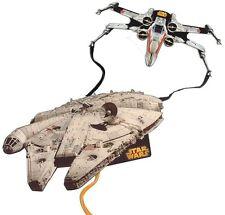 2 Stück Star Wars 3D Drachen, Millenium Falcon + X-Wing, 2 zum Preis von 1, NEU