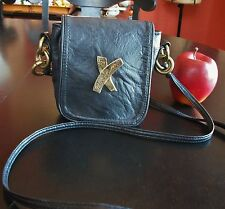 Paloma Picasso Italian Glove Leather Crossbody Shoulder bag Purse