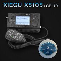US Xiegu X5105 SSB CW AM FM RTTY PSK Transceiver + PTT Speaker Mic + CE19 Card