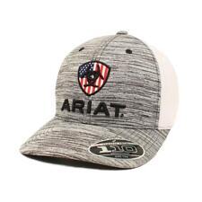 Ariat Men/'s Grey Flexfit Ball Cap A300002406