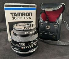 Tamron 28mm F/2.5 for Nikon - Exc Cond - Adaptall Mount Case, Box, Filter