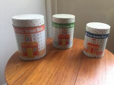 Vintage - The Little School House Stacking Tins x 3