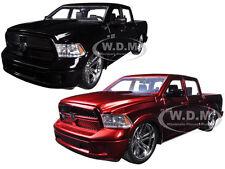 2014 DODGE RAM 1500 CUSTOM EDITION RED & BLACK SET OF 2 1/24 JADA 54040-SET