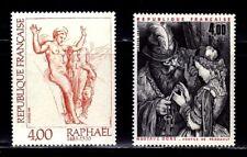 SELLOS FRANCIA 1984 ARTE PINTURA  2264/65 RAPHAEL/ GUSTAVE DORE 2v