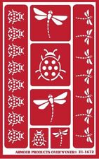 Armour Reusable Over n Over Glass Etching Stencil - Garden Friends