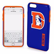 "For iPhone 6 and 6s 4.7"" Screen ONLY Denver Broncos Retro Logo Dual Hybrid Case"
