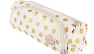 New CABOODLES Pencil Me In Double Zip Makeup Bag Cosmetic Storage Makeup Case