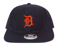 MLB Detroit Tigers New Era Diamond Collection Navy Orange Print Fitted Hat Cap