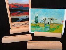 Buche natur 4er Set Fotoständer Postkartenhalter Visitenkartenhalter