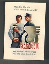 Mint Czechoslovakia Train Railway Workers Union Advertising BMB CMD Postcard