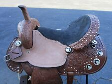 16 BARREL RACING SHOW TRAIL PLEASURE PISTOL CONCHO LEATHER WESTERN HORSE SADDLE