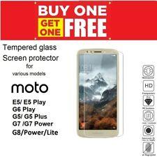 2X Tempered Glass Screen Protector for Motorola Moto E5 G5 G7 G8 Power Lite Plus