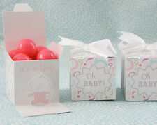 12 It's a Girl - Baby Reveal Favor Boxes - Set of 12